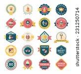 baby badge banner design flat... | Shutterstock .eps vector #231250714
