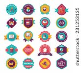 school badge banner design flat ... | Shutterstock .eps vector #231253135