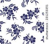 pattern of hibiscus | Shutterstock .eps vector #231253351