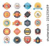 christmas badge banner design...   Shutterstock .eps vector #231253459
