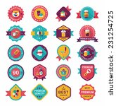 kitchenware badge flat banner... | Shutterstock .eps vector #231254725