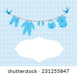 Stock vector vector baby clothes with christmas elements 231255847