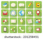 modern flat icons with long... | Shutterstock .eps vector #231258451