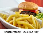 burger with fries portion from... | Shutterstock . vector #231265789