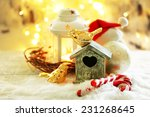 beautiful christmas composition ... | Shutterstock . vector #231268645