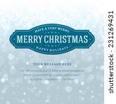 christmas bokeh light and... | Shutterstock .eps vector #231269431