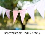 Colorful Bunting Flags Against...