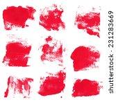 set of watercolor blobs ... | Shutterstock .eps vector #231283669