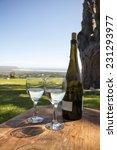 two glasses of white wine   Shutterstock . vector #231293977