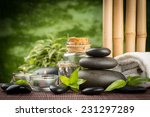 spa concept with zen basalt... | Shutterstock . vector #231297289