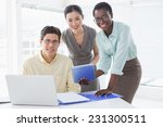 casual business team looking at ... | Shutterstock . vector #231300511