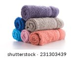 towel isolated on white   Shutterstock . vector #231303439