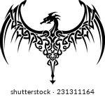 celtic dragon wings tattoo | Shutterstock .eps vector #231311164