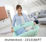 young home service woman... | Shutterstock . vector #231318697