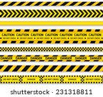 yellow with black police line... | Shutterstock .eps vector #231318811