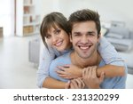 happy young couple moving... | Shutterstock . vector #231320299