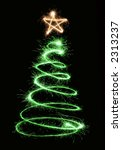Green Sparkler Christmas Tree...
