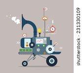 start up business machine.... | Shutterstock .eps vector #231330109
