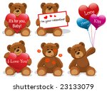 valentine bears set vector....