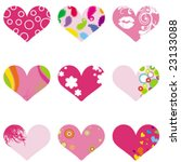heart valentine's collection | Shutterstock .eps vector #23133088