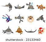 fish vector   cartoon series 5   Shutterstock .eps vector #23133460