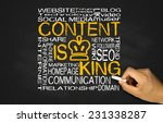 Content Is King Concept On...
