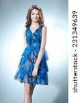 portrait of beautiful casual...   Shutterstock . vector #231349639