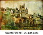 Usse castle - picture in retro style - stock photo