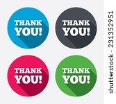 thank you sign icon. gratitude... | Shutterstock . vector #231352951
