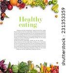 healthy eating background  ... | Shutterstock . vector #231353359