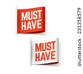 must have labels. vector. | Shutterstock .eps vector #231358579