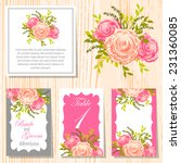 wedding invitation cards with... | Shutterstock .eps vector #231360085