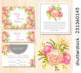 wedding invitation cards with... | Shutterstock .eps vector #231360145