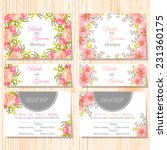 wedding invitation cards with... | Shutterstock .eps vector #231360175