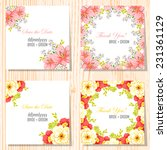 wedding invitation cards with... | Shutterstock .eps vector #231361129