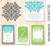 set of invitations with... | Shutterstock .eps vector #231362725