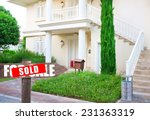 sold home for sale real estate... | Shutterstock . vector #231363319
