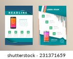 brochure flyer design vector... | Shutterstock .eps vector #231371659