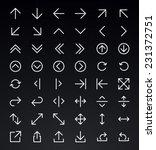 line arrow icon set   vector | Shutterstock .eps vector #231372751