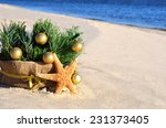 christmas tree with golden... | Shutterstock . vector #231373405
