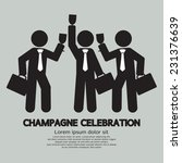 businessmen with champagne... | Shutterstock .eps vector #231376639