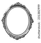 vintage silver oval frame   Shutterstock . vector #231382999