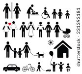 set of family icons and signs... | Shutterstock . vector #231393181
