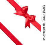 beautiful red bow isolated on... | Shutterstock . vector #231410281