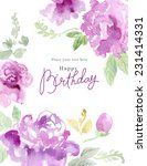 watercolor background with... | Shutterstock . vector #231414331