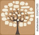 speech bubble tree  | Shutterstock .eps vector #231417535