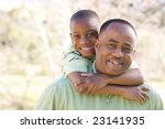 man and child having fun in the ... | Shutterstock . vector #23141935