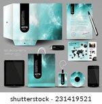 1stationery set design ... | Shutterstock .eps vector #231419521