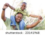 man and child having fun in the ... | Shutterstock . vector #23141968