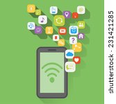 the use of mobile applications  ... | Shutterstock .eps vector #231421285